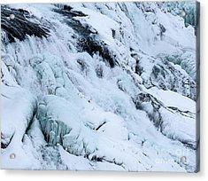 Frozen Gullfoss In Winter Acrylic Print