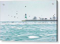 Frozen In Chicago Acrylic Print