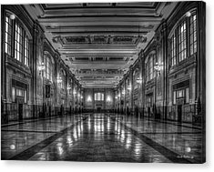 Frozen In Time B W Union Station Kansas City Missouri Art Acrylic Print