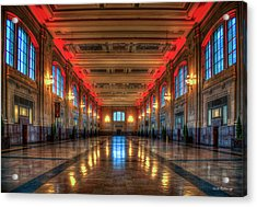 Frozen In Time Union Station Kansas City Missouri Train Art Acrylic Print