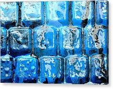 Frozen Keyboard Acrylic Print