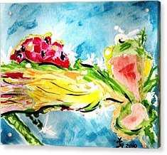 Frozen Ladybug Acrylic Print