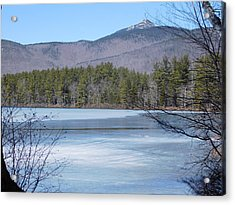 Frozen Lake Chocorua Acrylic Print by Catherine Gagne