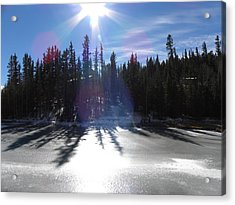 Sun Reflecting Kiddie Pond Divide Co Acrylic Print