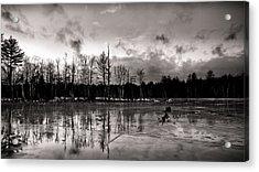 Frozen Landscape  Acrylic Print by Edward Myers