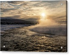 Acrylic Print featuring the photograph Frozen Mist by Fred Denner