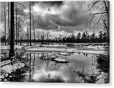 Frozen Mullica River Acrylic Print
