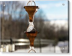 Acrylic Print featuring the photograph Frozen Rain Chains by D K Wall