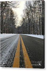 Frozen Road In Life Acrylic Print by Michael Krek