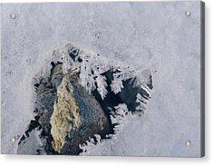 Frozen Rock Acrylic Print