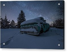 Acrylic Print featuring the photograph Frozen Rust  by Aaron J Groen