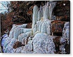 Frozen Waterfall Acrylic Print by Suzanne Stout
