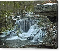 Frozen Waterfalls Acrylic Print by Robert Pilkington