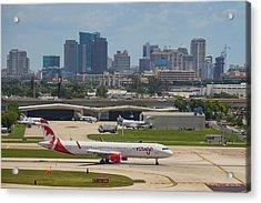 Frt Lauderdale Airport/city Acrylic Print