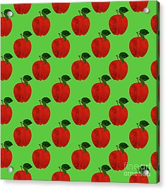 Fruit 02_apple_pattern Acrylic Print