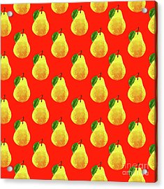 Fruit 03_pear_pattern Acrylic Print by Bobbi Freelance