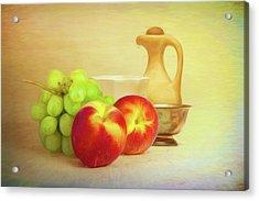 Fruit And Dishware Still Life Acrylic Print