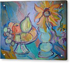 Fruit And Flowers 2 Acrylic Print by Marlene Robbins