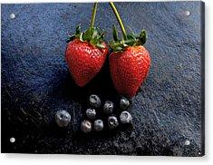 Fruit And Slate Acrylic Print by Jon Daly