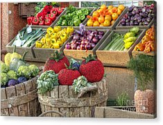 Fruit And Veggie Display Acrylic Print