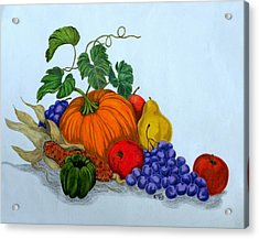 Fruit And Veggies Acrylic Print by Terri Mills