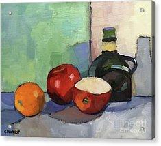 Fruit And Vinegar Acrylic Print by Catherine Martzloff