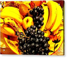 Fruit Basket Acrylic Print by Carlos Avila