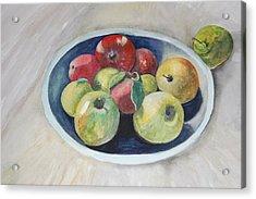 Fruit Bowl For Health Acrylic Print by Janna Columbus