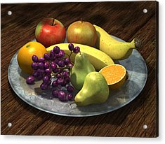 Fruit Bowl Acrylic Print by Martin Davey