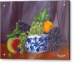 Fruit Bowl Acrylic Print by Pete Maier