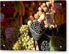Fruit For Sale At The Rialto Market Acrylic Print by Todd Gipstein