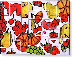 Fruit Fractals Acrylic Print by Farah Faizal