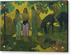 Fruit Gathering Acrylic Print by Paul Gauguin