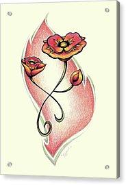 Vibrant Flower 1 Poppy Acrylic Print
