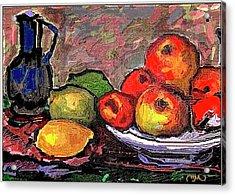 Fruit Acrylic Print by Pemaro