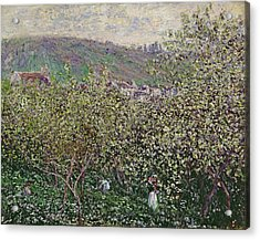 Fruit Pickers Acrylic Print by Claude Monet