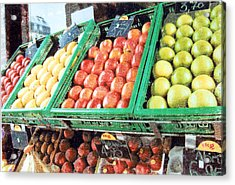 Fruit Stand Acrylic Print