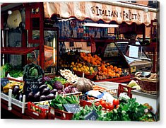 Fruit Stand Acrylic Print by Warren Home Decor