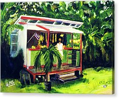 Fruit Stand North Shore Oahu Hawaii #163 Acrylic Print by Donald k Hall