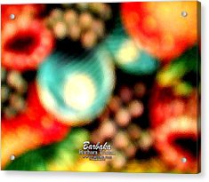 Acrylic Print featuring the photograph Fruit Sticker by Barbara Tristan