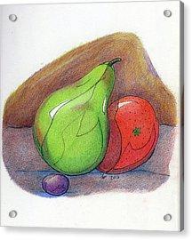 Fruit Still 34 Acrylic Print by Loretta Nash