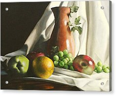 Fruit Still Life Acrylic Print by Lori Keilwitz