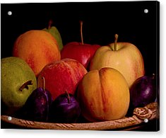 Fruit Still Life Acrylic Print by Marion McCristall