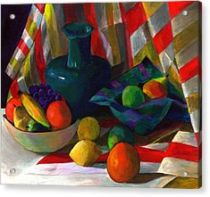 Fruit Still Life Acrylic Print by Peter Shor