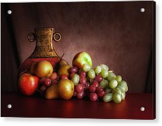 Fruit With Vase Acrylic Print by Tom Mc Nemar