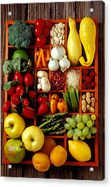 Fruits And Vegetables In Compartments Acrylic Print