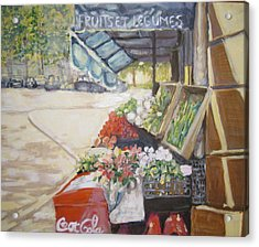 Acrylic Print featuring the painting Fruits Et Legumes by Julie Todd-Cundiff