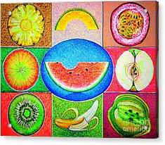 Fruits Acrylic Print by Viktor Lazarev