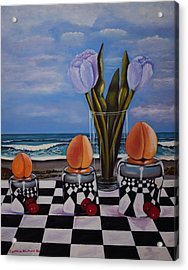 Fruity Day At The Beach Acrylic Print by Cynthia Bluford
