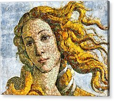 Fruity Venus I Am So Sorry Mr Boticelli Acrylic Print by Georgiana Romanovna